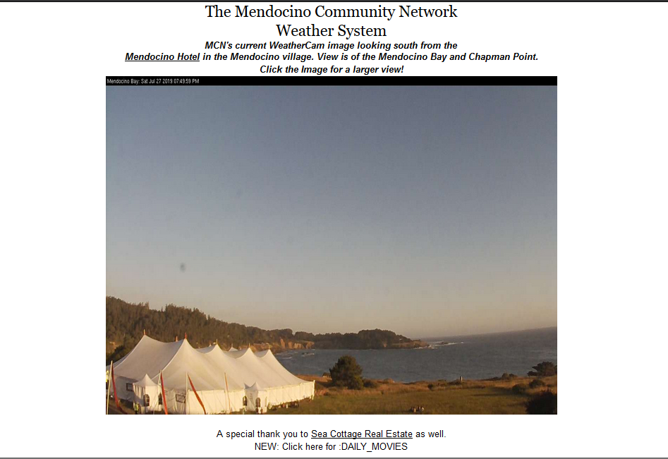 MCN Mendocino Weather Page