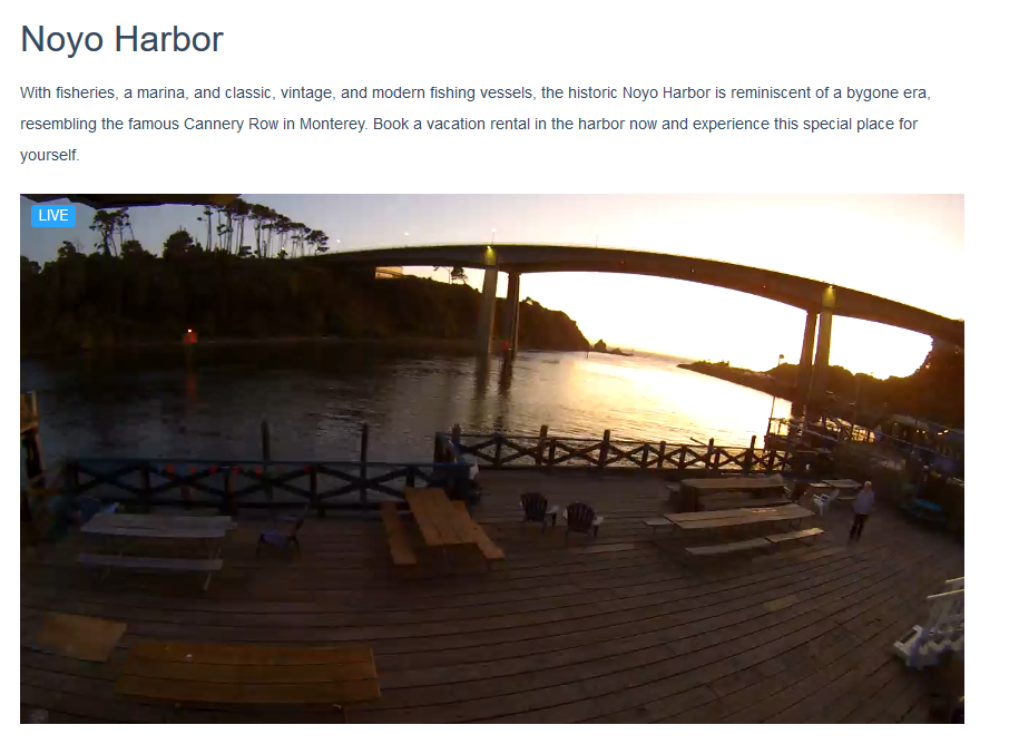 Noyo Harbor Live Video Feed